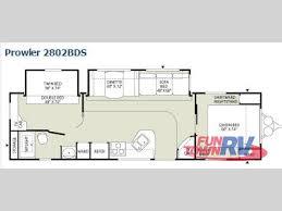 best rv floor plans used fleetwood rv prowler 2802bds travel trailer at fun town floor