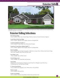 Black And White Homes With Accent Red Commodore Homes Of Indiana Options Brochure By The Commodore