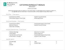 customizable menu templates banquet menu template