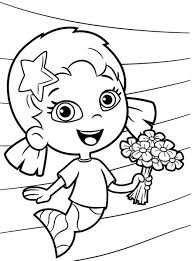 oona bubble guppies coloring pages cartoon coloring pages of