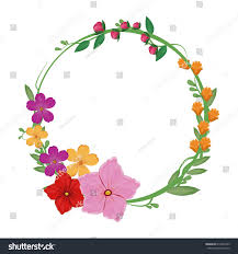 flowers spring crown decoration stock vector 612349703 shutterstock