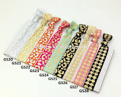 ponytail holder bracelet 2pcs cardboard custom knot hair ties custom fold elastic hair