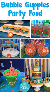 guppies birthday party great the sea themed party food and dessert the daily diyer