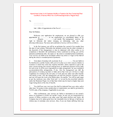 Confirmation Of Appointment Letter Sample Employee Appointment Letter Template 10 For Word Doc Pdf Format