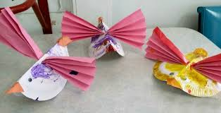 How To Make A Paper Beak - paper plate birds on the coast