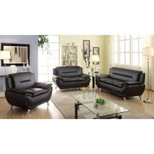 Faux Leather Living Room Set Living Room S Tribecca Home Uptown Modern Sofa Room Sets Faux