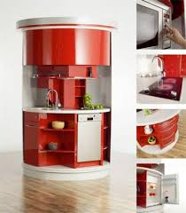 kitchen modern portable kitchen design in red color idea