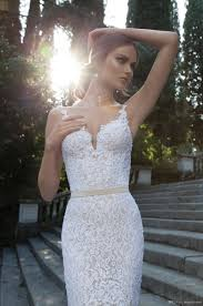 turmec spaghetti strap mermaid lace wedding dress