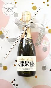 personalized bridal shower favors custom bridal shower mini chagne bottle labels