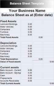 balance sheet template example the business model sample balance