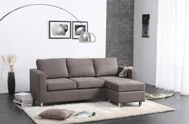 l shaped grey microfiber couch with left chaise on rectangle white