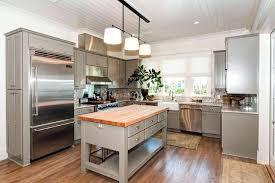 Butcher Block Kitchen Island Ideas Cottage Kitchen Island Ideas Freestanding Gray Kitchen Island With