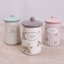 ceramic canisters for the kitchen set of 3 cottage flower ceramic storage jars kitchen storage