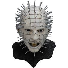 deluxe halloween masks amazon com hellraiser iii pinhead deluxe halloween mask