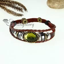 wrap bracelet with charms images Crystal charm genuine leather wrap bracelets unisex wholesale jpg