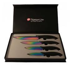coffret de couteaux de cuisine coffret couteaux de cuisine lames colorées collection titanium line