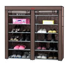 closet organizers shoes review hosl dustproof shoe rack 6 tier
