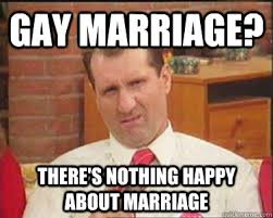 Gay Marriage Meme - gay marriage there s nothing happy about marriage confused al