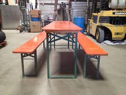 Folding Table And Bench Set Beer Garden Folding Table Set From Germany At 1stdibs
