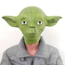 latex halloween costume star wars yoda fancy dress face mask party