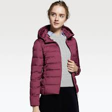 uniqlo ultra light down jacket or parka lyst uniqlo women ultra light down seamless parka in purple