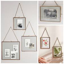 hanging glass frame with gold chains costplus world market home