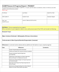 research project progress report template 10 research report templates free sle exle format