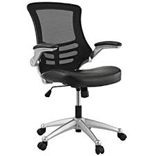 Metal Desk Chair by Amazon Com Modway Attainment Mesh Back And Black Vinyl Seat