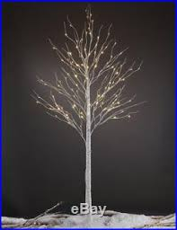 lighted birch trees 8ft artificial birch tree pre lighted pre lit tree warm white 128