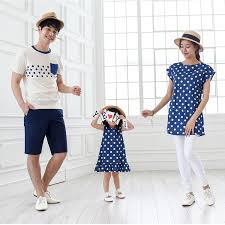 family style set polka dot cotton t shirts