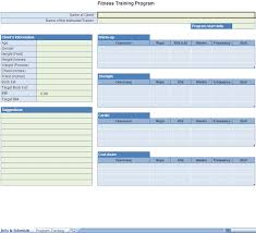 Workout Excel Template Exercise Chart Template Way To Keep Track Of All The