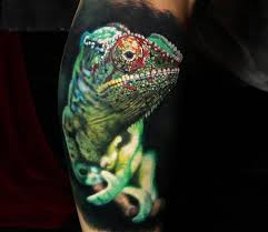 chameleon tattoo by steve butcher photo no 20359