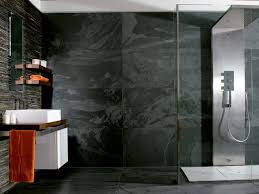 porcelanosa u0027s black slate wall tiles for stylish bathroom wall