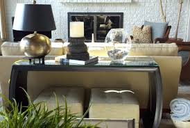 christmas decorations for sofa table how to decorate a sofa table how to style a console symmetrical