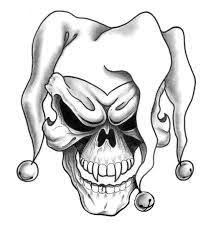image result for black and white skull and drawings
