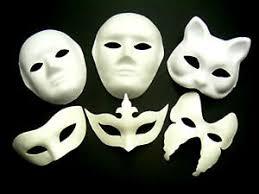 plain mask white mask plain fancy dress decorate party play masquerade