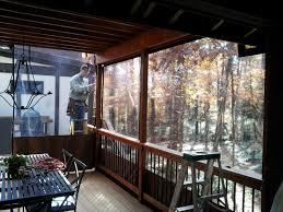 Clear Vinyl Curtains For Porch Clear Vinyl Plastic Porch Patio Enclosures Lake House Exterior