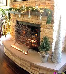 fireplace beautiful christmas fireplace mantel decorations for