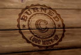 burn on wood 25 free psd wood logo mockups free premium creatives