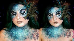 avant garde peacock lady halloween makeup tutorial jordan hanz