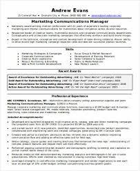 Marketing Communications Manager Resume 34 It Resume In Word Free U0026 Premium Templates