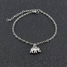 bracelet charm silver images Silver ankle bracelet charm metal elephant pendant leg chain jpg