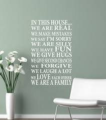 28 in this house wall sticker in this house we do vinyl in this house wall sticker wall decal in this house we are family vinyl lettering