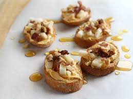 thanksgiving appetizer pumpkin cheese crostini the shuga
