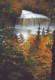 Michigan Waterfalls images Hear the water roar and whisper up travel jpeg