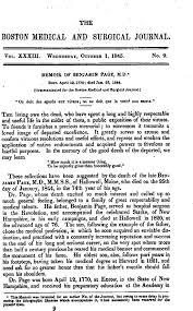 memoir of benjamin page m d u2014 communicated for the boston