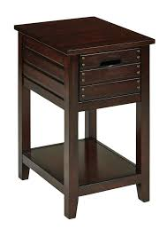 fully assembled end tables office star camille chair side table in walnut finish fully