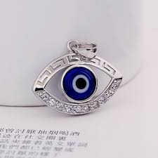 silver eye necklace images Fashionable turkish style blue black eye necklace pendant men and jpg