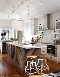 kitchen white kitchen reclaimed wood island metal stools legs
