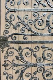ornamental wrought iron door stock photos image 13352663